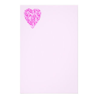 Pink Heart. Patterned Heart Design. Stationery