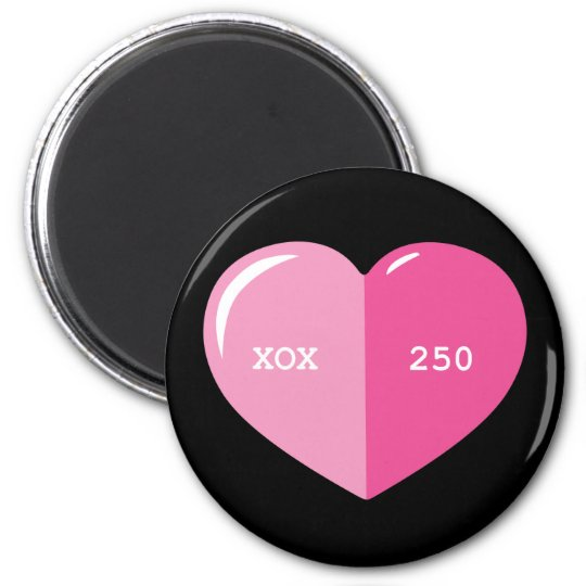 Pink Heart Pill Capsule Magnet