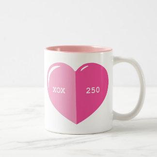 Pink Heart Pill Capsule Mug