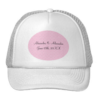 Pink heart polka dots wedding favors hats