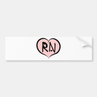 Pink Heart RN Bumper Sticker