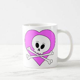 Pink Heart Skull Mug