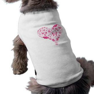 pink heart sleeveless dog shirt