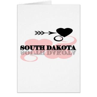 Pink Heart South Dakota Greeting Card