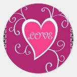 Pink heart - Sticker