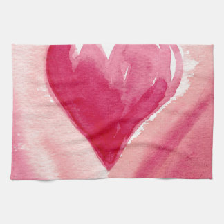 Pink Heart Tea Towel