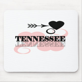 Pink Heart Tennessee Mouse Mat