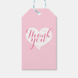 Heart thank you gift tags