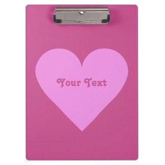 Pink Heart Valentine custom clipboard