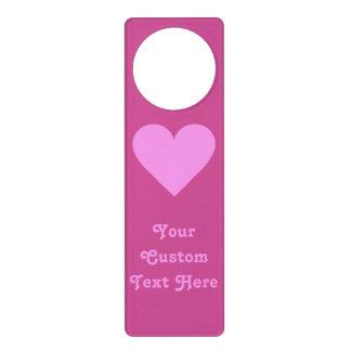 Pink Heart Valentine custom door hanger