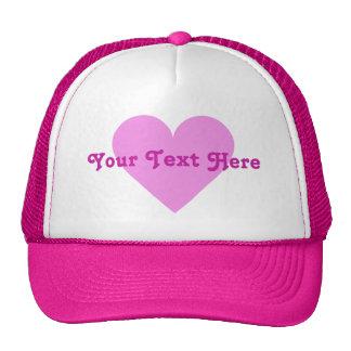 Pink Heart Valentine custom hats