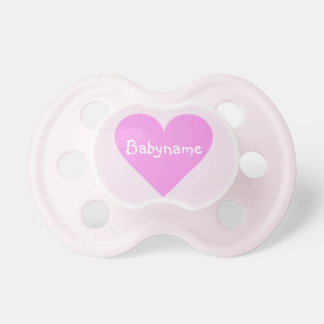 Pink Heart Valentine custom pacifier