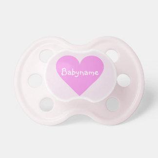 Pink Heart Valentine custom pacifier