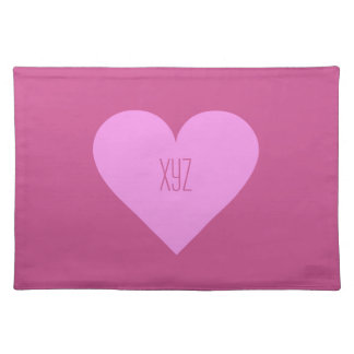 Pink Heart Valentine custom placemats