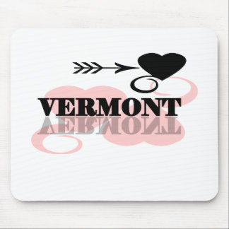 Pink Heart Vermont Mouse Pad