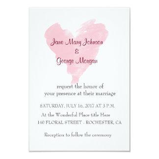 Pink heart Wedding Invitation