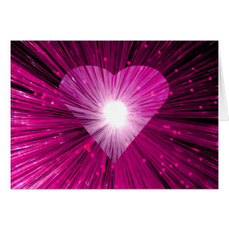 Pink  Heart Your Text' greetings card