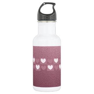Pink Hearts 532 Ml Water Bottle