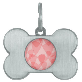 Pink Hearts Background Pet ID Tag