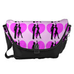 pink hearts ballroom dancers courier bags