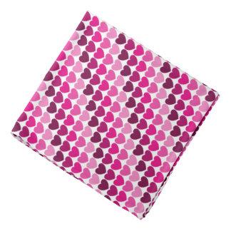 Pink hearts bandana