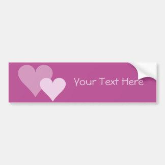 Pink Hearts bumpersticker, customize Bumper Sticker