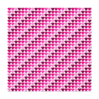 Pink hearts canvas canvas print