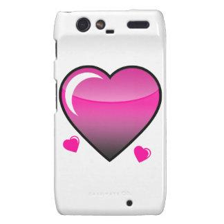 Pink Hearts Droid RAZR Case