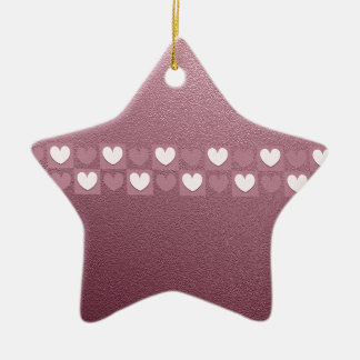 Pink Hearts Christmas Ornament