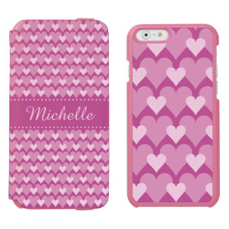 Pink Hearts custom cases Incipio Watson™ iPhone 6 Wallet Case