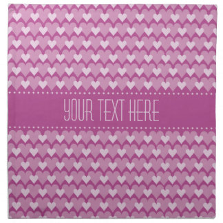 Pink Hearts custom cloth napkins