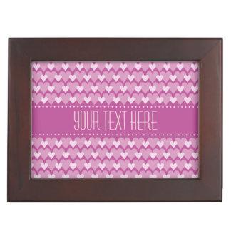 Pink Hearts custom keepsake box