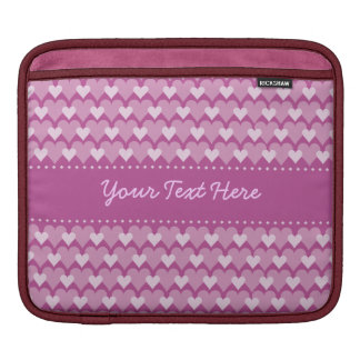 Pink Hearts custom laptop / iPad case