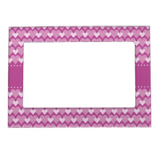 Pink Hearts custom magnetic picture frame