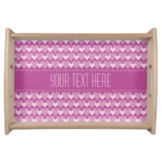Pink Hearts custom serving tray