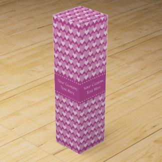 Pink Hearts custom wine gift box