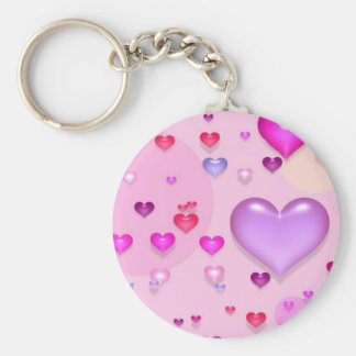 Pink hearts for the St Valentine s day - Key Chain