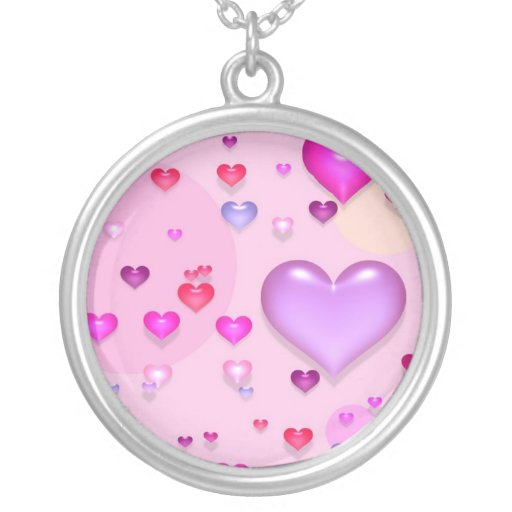 Pink hearts for the St. Valentine's day - Necklaces