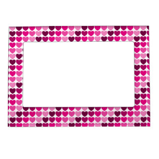 Pink hearts frame