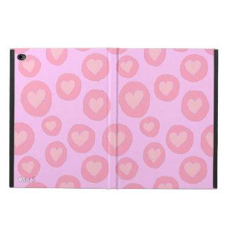 Pink hearts fun hand painted folk pop art pattern powis iPad air 2 case
