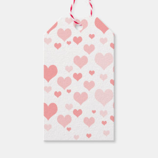 Pink Hearts Gift Tags