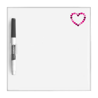 Pink hearts heart board