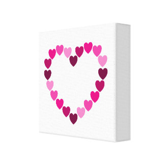 Pink hearts heart canvas canvas prints