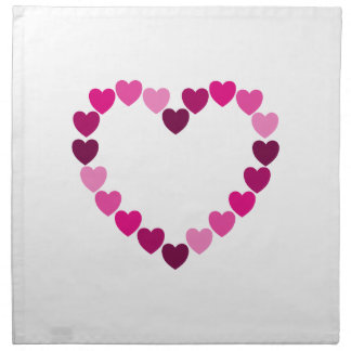 Pink hearts heart napkins