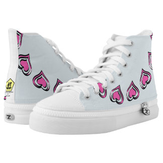Pink hearts high tops