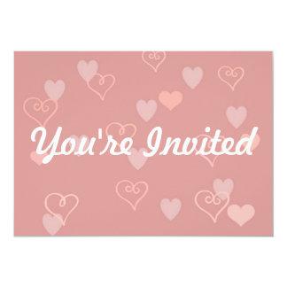 Pink Hearts Invitation