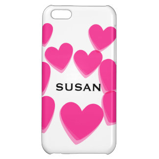 Pink Hearts iPhone 5C Cases