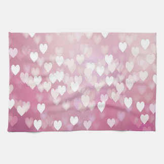 Pink Hearts Kitchen Towel