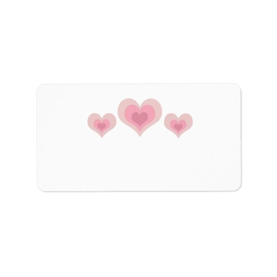Pink Hearts Label