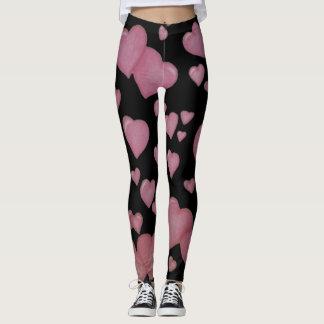 Pink hearts leggings